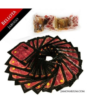 Ibérico Bellota Ham (Jabugo, Huelva), 100% Iberian Bellota - Pata Negra WHOLE sliced